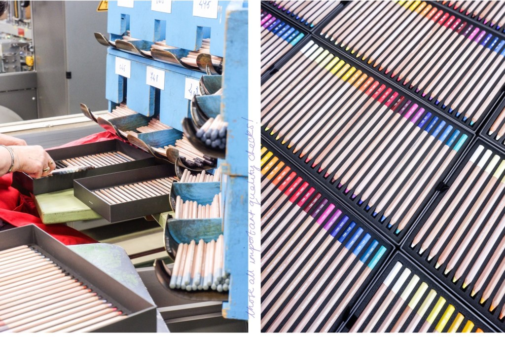 quality control and packaging of coloured pencils