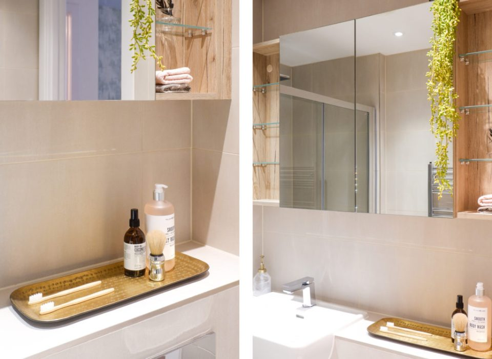 modern London apartment with neutral luxury bathroom