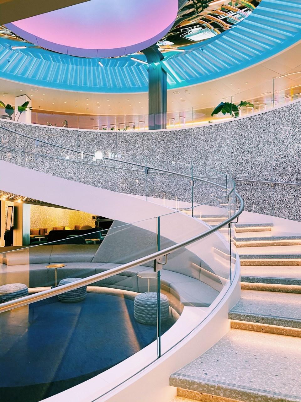 atrium of cruise ship