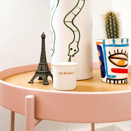 rented home with small pink details