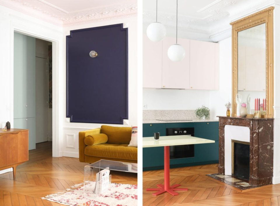 minimal apartment with eclectic details