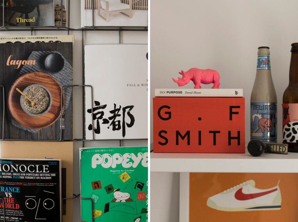 magazine office details with g.f.smith book