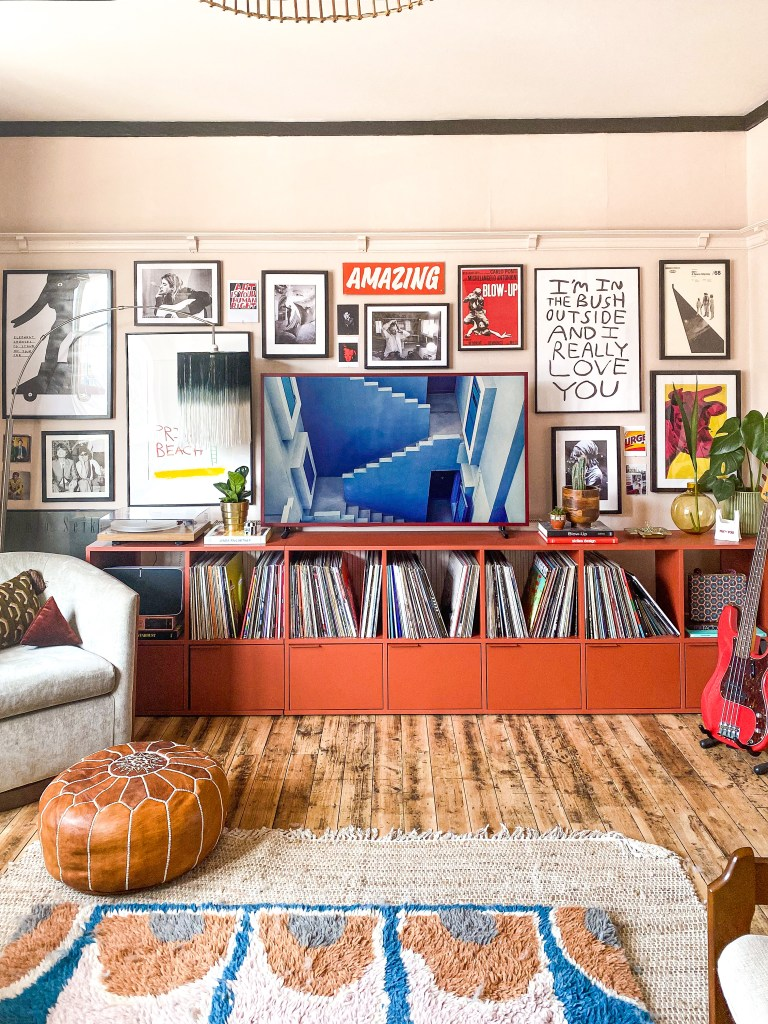 gallery wall with Samsung Frame TV