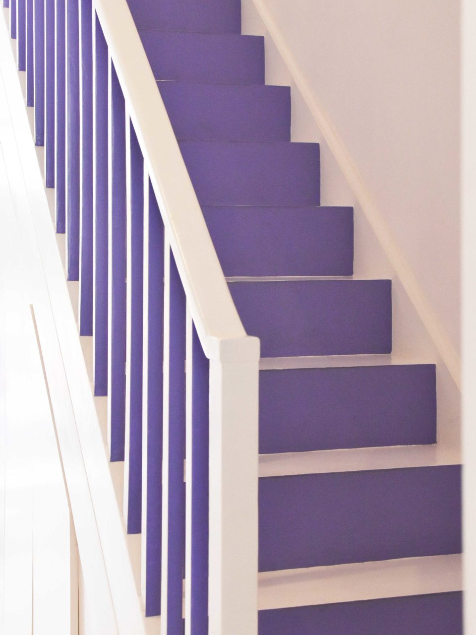 purple and white stairs