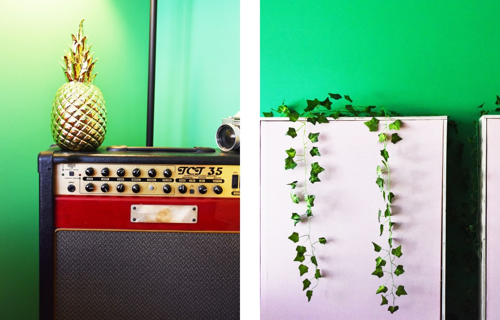 amps and soundproofing in green studio
