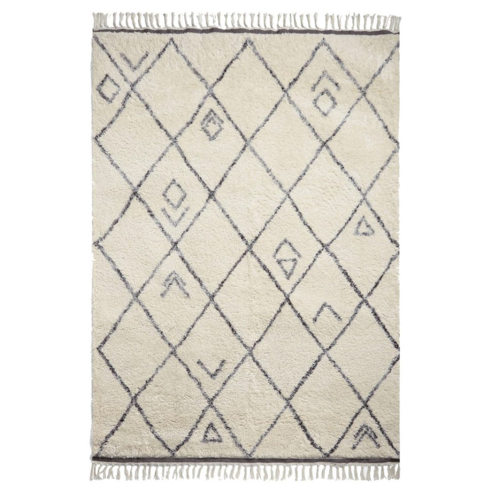 grey and cream berber style rug