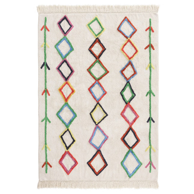 colourful berber style rug