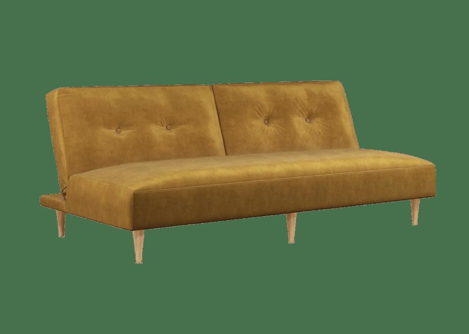 John Lewis ANYDAY mustard velvet sofa bed