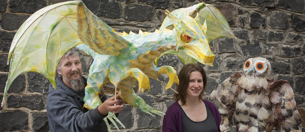 Emma Johnson and Glenn Scolyer Belgrave Lantern Artists