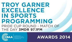 Troy Garner Excellence In Sports Programming Award 2014 - Community Broadcasting Association Australia
