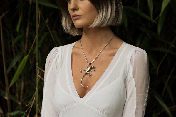 Lizard Pendant - Emma Keating Jewellery CW3