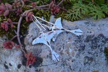madagascan moon moth earrings (underside)- emma keating