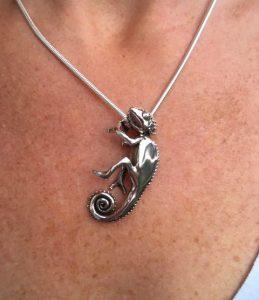 Chameleon Pendant by Emma Keating Jewellery