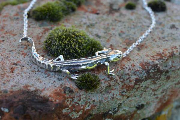 Smooth Newt Necklace - Emma Keating Jewellery