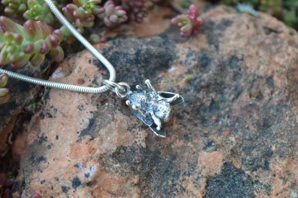 Bee Pendant underside s - Emma Keating Jewellery