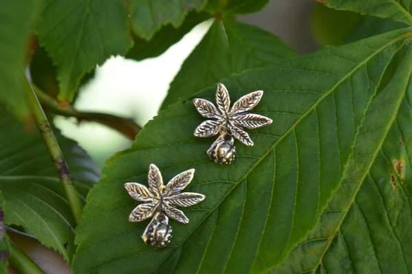 Horse Chestnut studs 1 - Emma Keating Jewellery