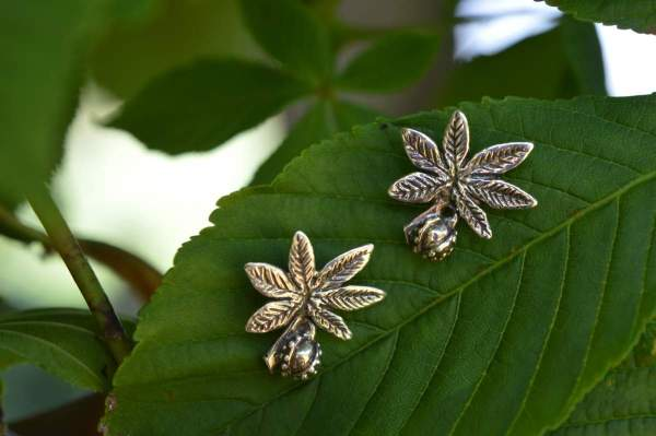 Horse Chestnut studs 2 - Emma Keating Jewellery