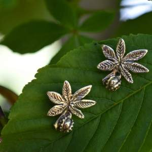 Horse Chestnut studs 2 - Emma Keating Jewellery
