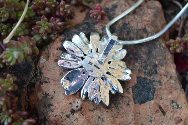 Large Daisy Pendant underside s - Emma Keating Jewellery