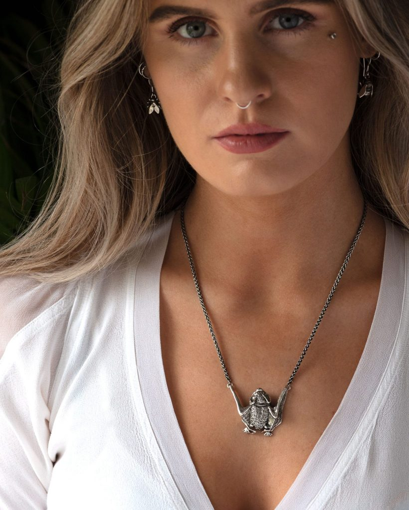 Pipistrelle Bat Necklace MLR - Emma Keating Jewellery