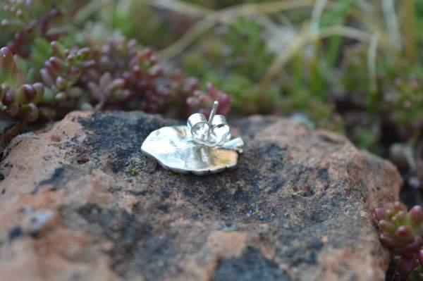 cheese plant stud underside s - Emma Keating Jewellery