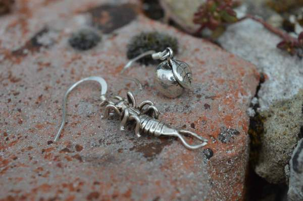 Earwig & Apple Drop Earrings 3s - Emma Keating Jewellery