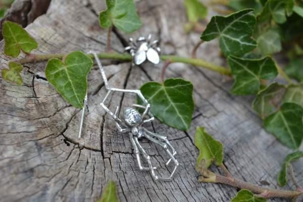 Spider & Fly Earrings 6s - Emma Keating Jewellery