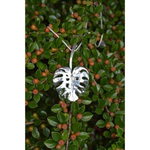 Sterling Silver Monstera Leaf Pendant by Emma Keating Jewellery