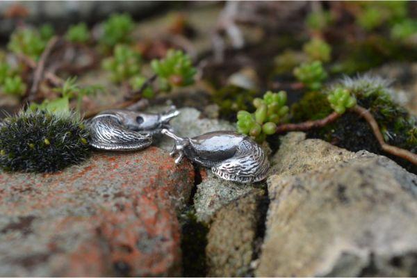 Garden Slug Stud Earrings by Emma Keating Jewellery