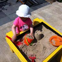 DIY Toddler sand pit