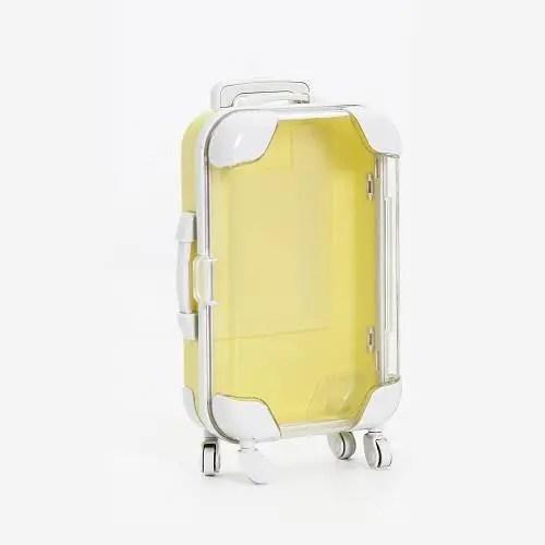 yellow eyelash suitcase