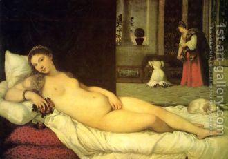 The Venus of Urbino 1538 - Tiziano Vecellio (Titian)