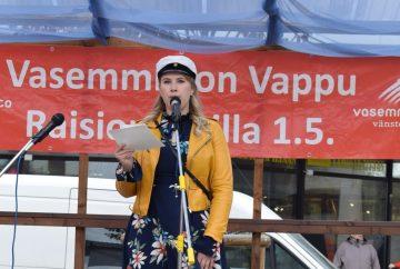 Emma Lindqvistin vappupuhe Raision torilla 2019