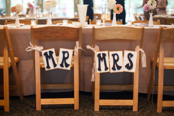 mr and mrs chair signs cheap black covers for rent
