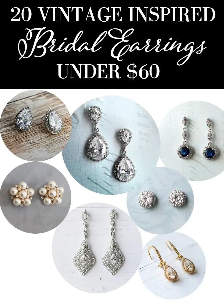 20 Vintage Inspired Bridal Earrings | http://emmalinebride.com/bride/vintage-inspired-bridal-earrings/