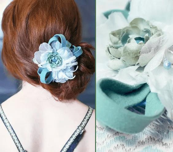 handmade haircomb in blue