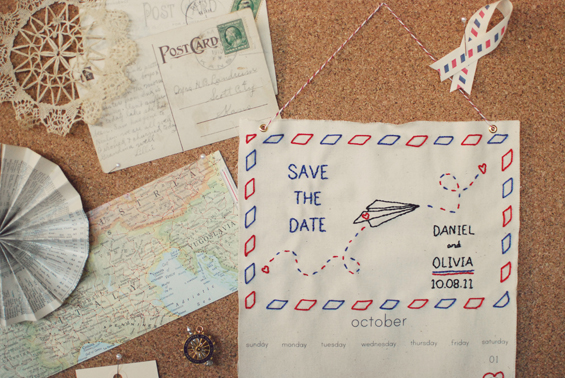 airmail save the date