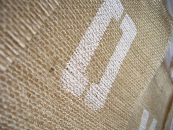 handmade burlap banner