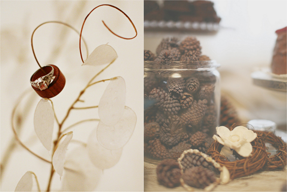wedding pinecones