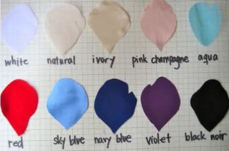 diy hair clip petal color options