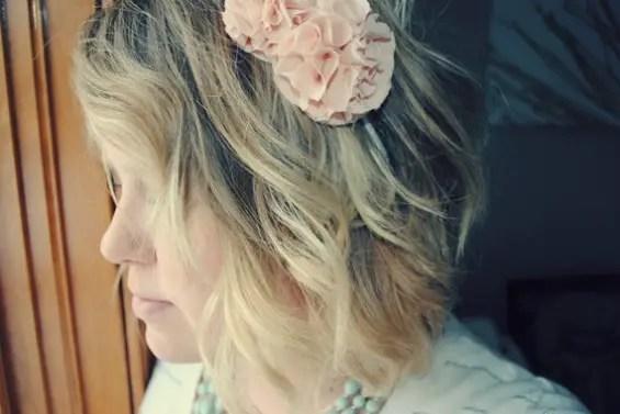 pink ruffle headband