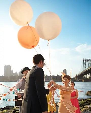 whimsical real wedding location in brooklyn, new york