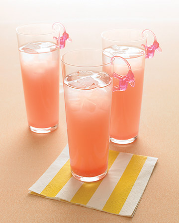 pink drinks with elephants