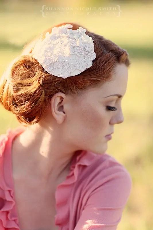 Bridal Hat Lovely In Alencon Lace Emmaline Bride
