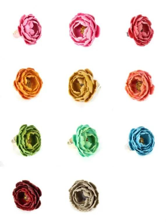 paper flower rings - 4