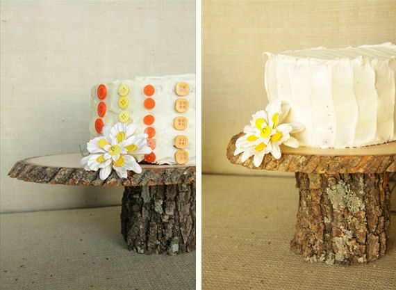 wooden cake plates - 2