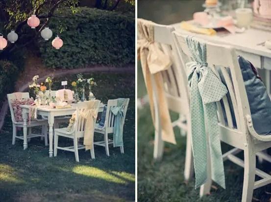 fabric chair bows