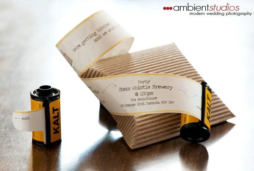 Film Roll Wedding Invitation | Emmaline Bride