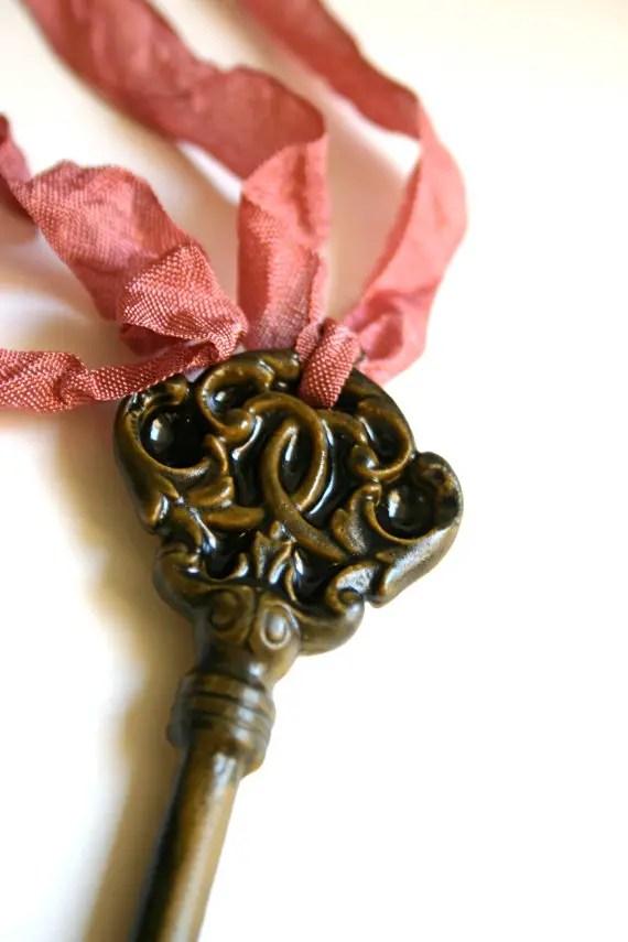 skeleton key candy necklace