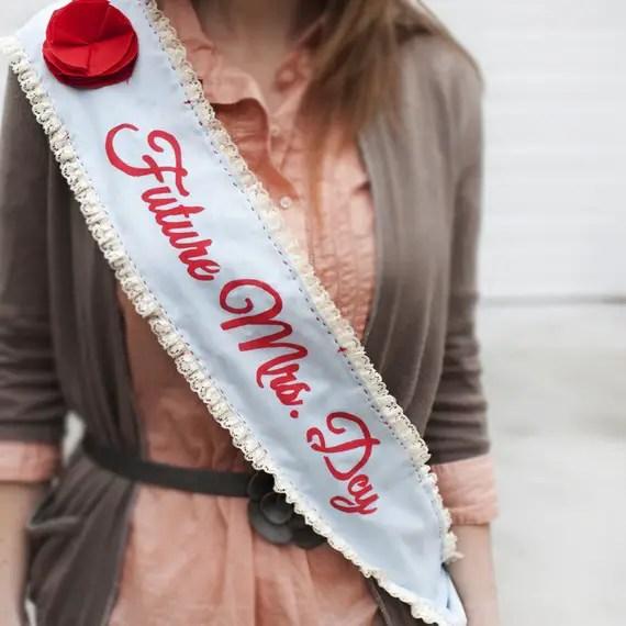 bachelorette sash